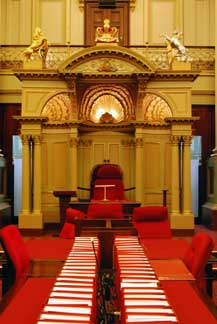 Melbourne Indoors Parliament House inside