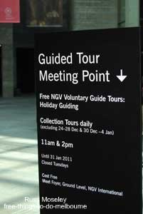 NGV guided tour meeting point