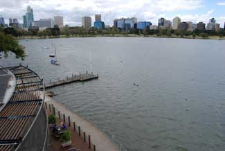 Albert Park Lake from The Point restaurant/cafe