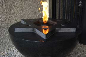 The Eternal Flame at the Centre