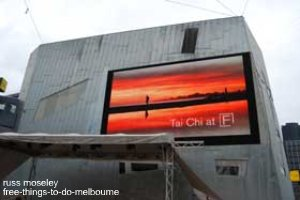 Federation Square screen
