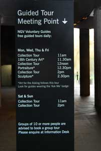 NGV International Meeting Point for free tours