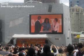 Oprah Winfrey at Fed Square