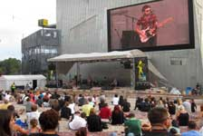 Find the action at Federation Square