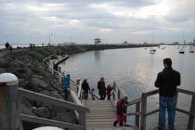 St Kilda breakwater - home of the penguins