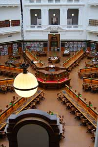 La Trobe Reading Room - I couldn't fit the dome in the photo! It's the best bit! - go take a look for yourself!