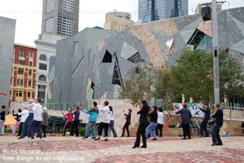 Tai Chi at Federation Square