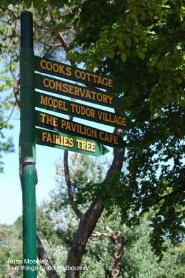 Fitzroy Gardens Signpost