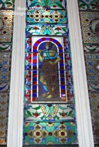 ANZ Bank stained glass miner