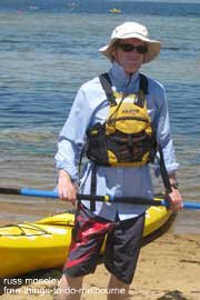 Me at a free kayaking event  - I did actually go out on the water!.