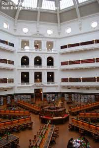 The gorgeous La Trobe Reading Room.