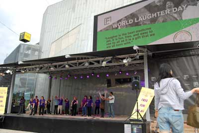 Laughter Club at Federation Square