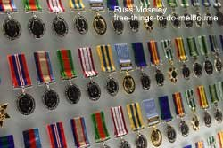 Shrine of Remembrance medal display