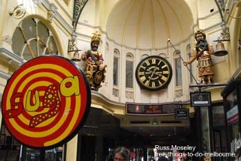 The Royal Arcade with Gog and Madog