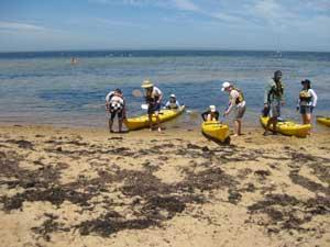 Kayaking at Beaumaris