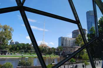 View from the BMW Edge in Federation Square